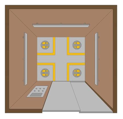 Elevator Standing Zone Markings