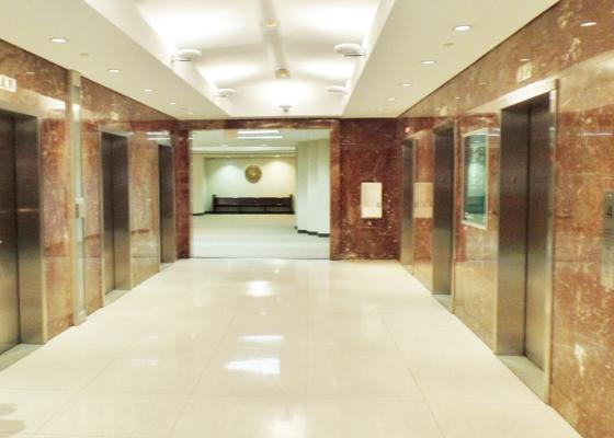 Courthouse lobby elevators