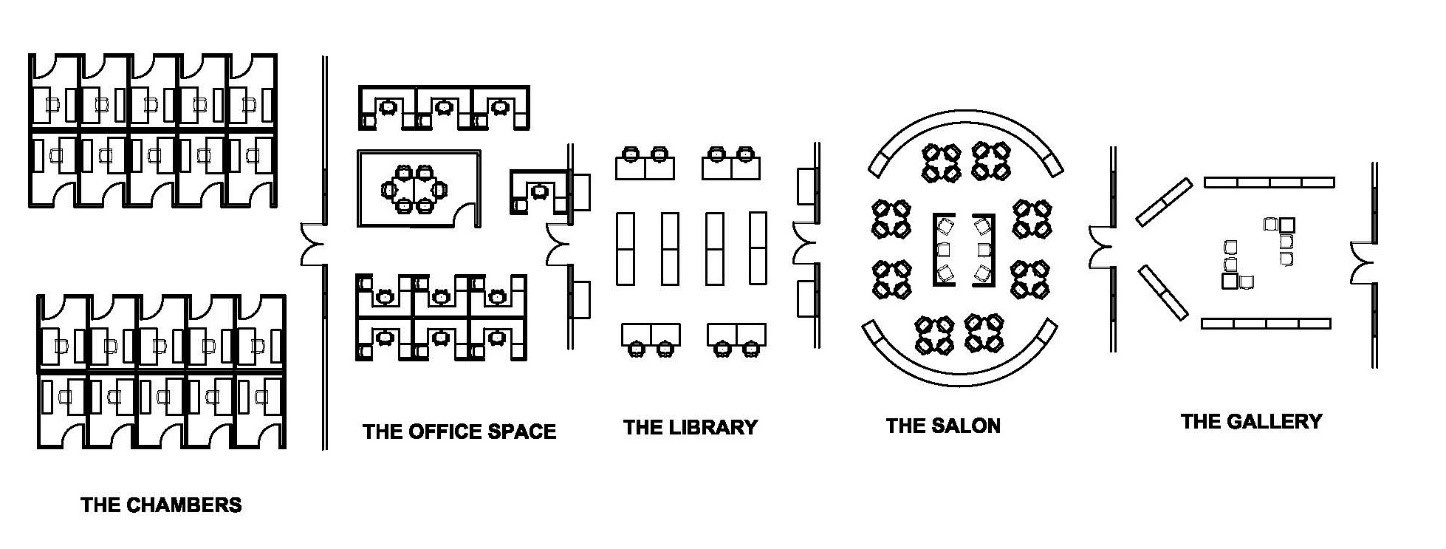 Office Layout of the Eudaimonia Machine