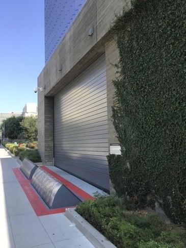 Secured parking entrance