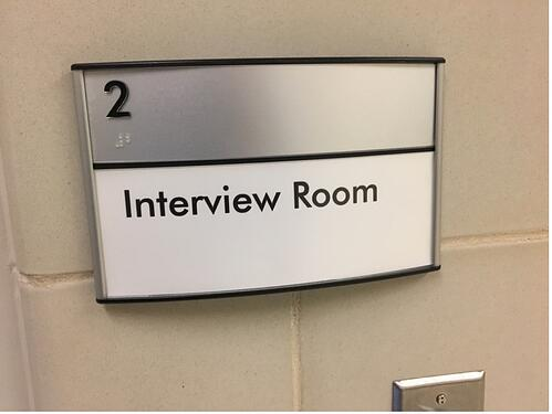 Interview Room Sign