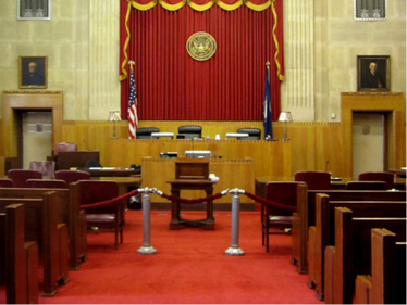 Courtroom Judges Bench view