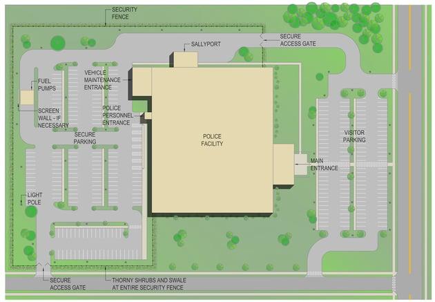 Police Parking Site Plan