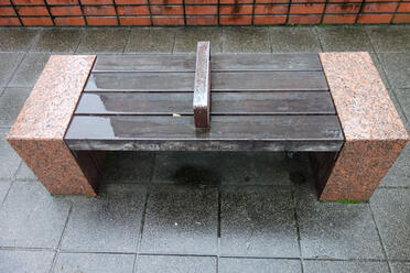 Divided bench