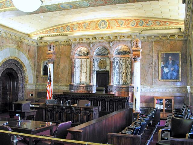 Formal and Ornate Courtroom