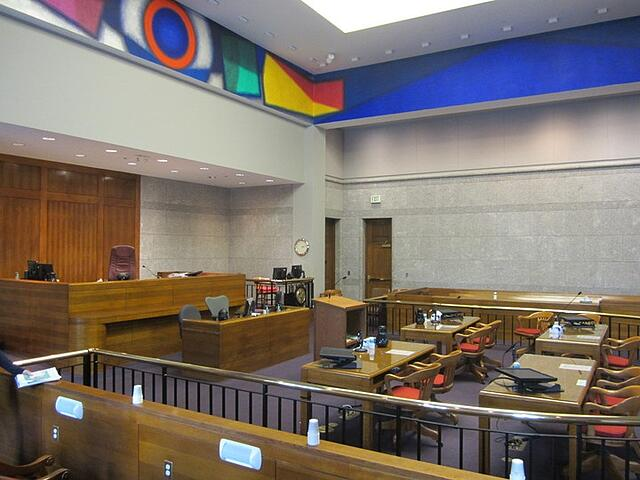 Less Formal Courtroom Bright Colors