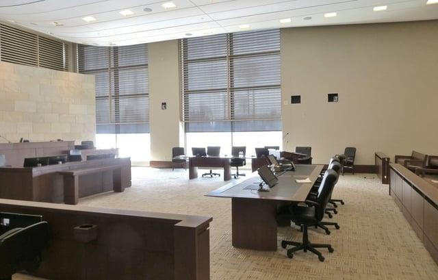 Less Formal Courtroom Light Colors