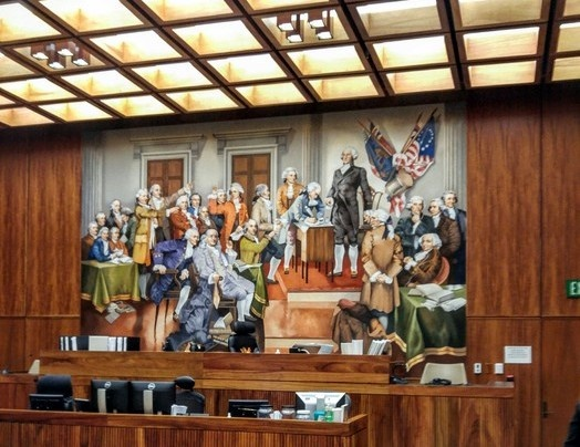 Mural in Honolulu Courtroom