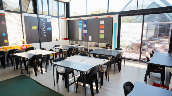 Classroom with windows